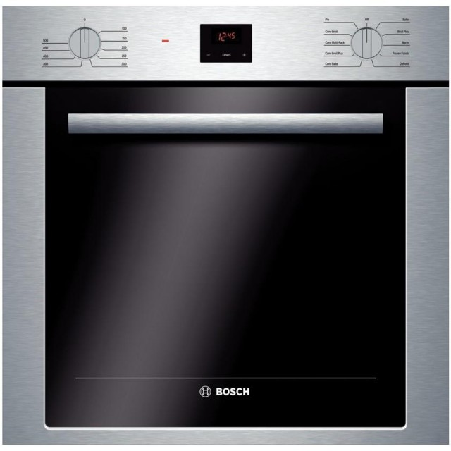 Bosch 500 Series HBE5451UC 24 In. Single Electric Wall Oven in Stainless Steel