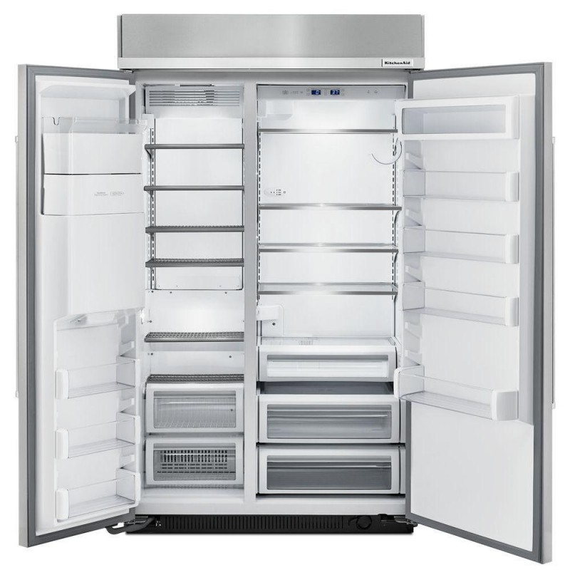 KitchenAid KBSD608ESS 48 In. W 29.5 Cu. Ft. Built In Side By Side  Refrigerator In Stainless Steel