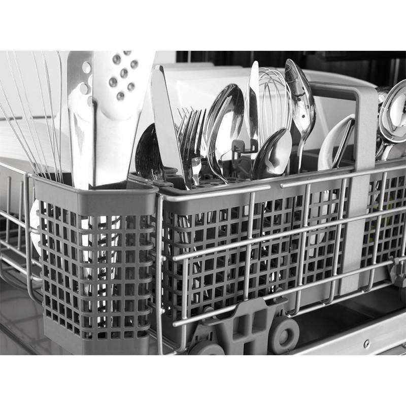 Shop Kitchenaid Architect Ii 24 In Black Stainless Steel: KitchenAid KDFE104DBL Front Control Dishwasher In Black With Stainless Steel Tub, ProWash Cycle