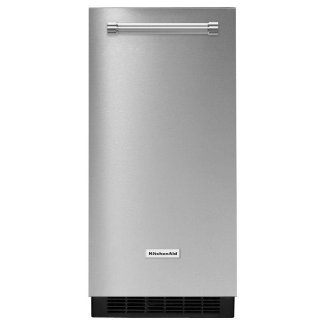 KitchenAid KUIX305ESS 15 in. Built-In or Freestanding Ice Maker in Stainless Steel