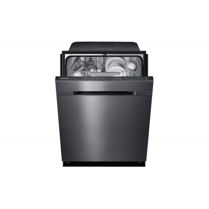 samsung dw80j7550ug top control dishwasher with waterwall technology in black stainless steel