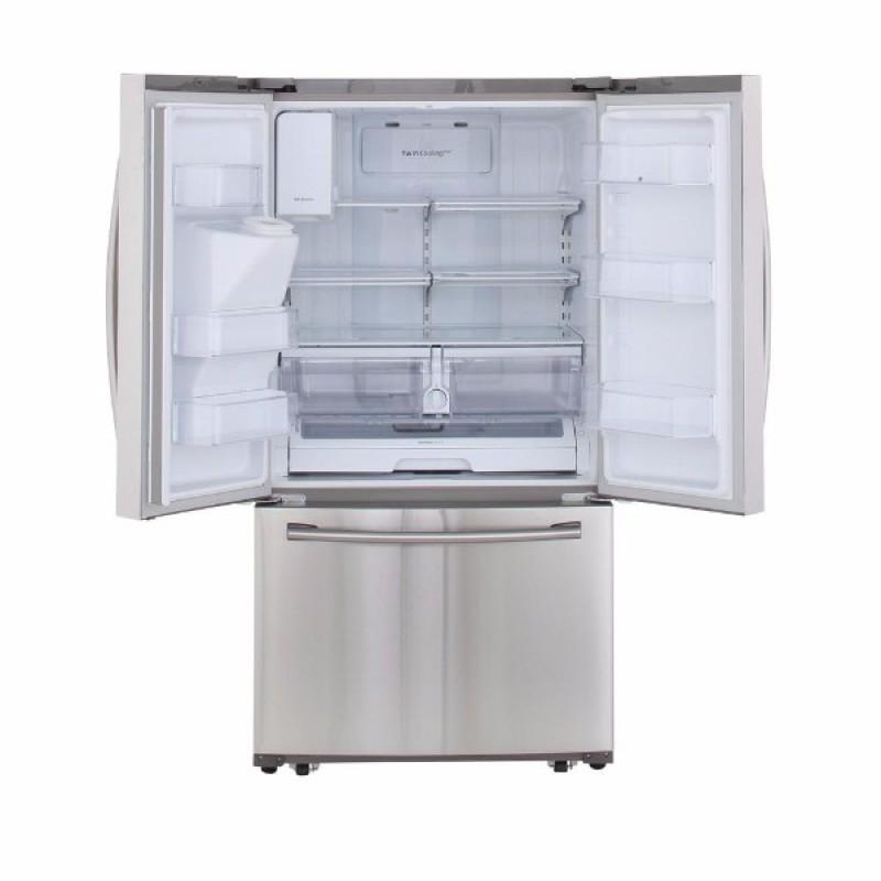 Samsung Rf263beaesr 24 6 Cu Ft French Door Refrigerator In Stainless Steel