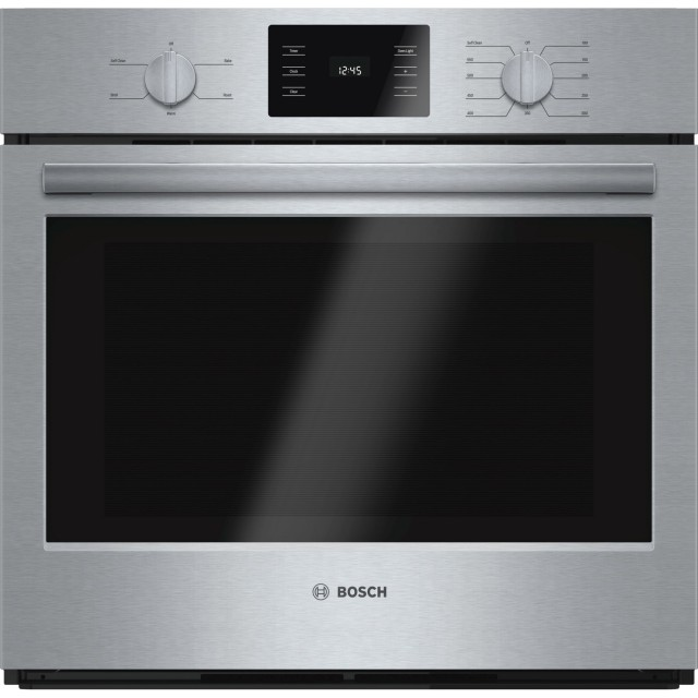 Bosch 500 Series HBL5351UC 30 In 4.6 cu. ft. Electric Single Wall Oven, Sabbath Mode, Steam Clean in Stainless Steel