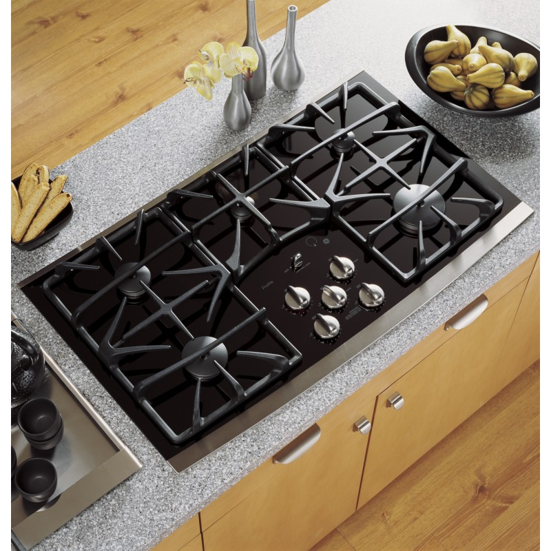 GE Profile JGP970SEKSS 36 In. Gas Cooktop With 5 Sealed Burners, ADA  Compliant, In Stainless Steel