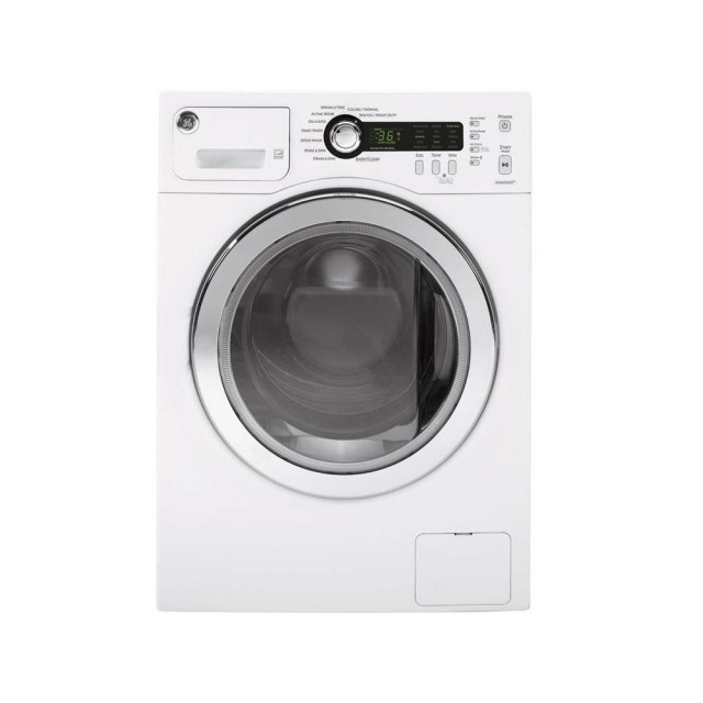 GE WCVH4800KWW 2.2 cu. ft. Stackable Compact White Front Loading Washer, ENERGY STAR
