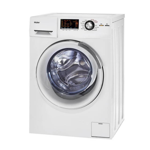 Haier HLC1700AXW 24 In. 2 cu. ft. Smart Ventless Washer/Dryer Combo Ventless UL Certification in White
