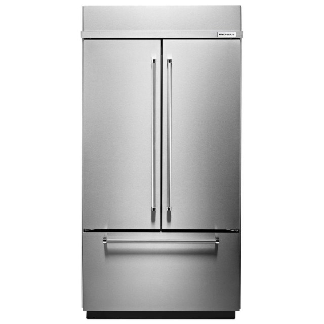 KitchenAid KBFN402ESS 42 in. 24.2 cu. ft. Built-In French Door Refrigerator in Stainless Steel
