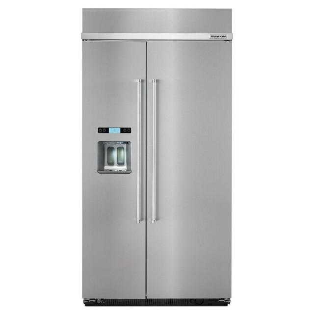 KitchenAid KBSD602ESS 42 in. W 25 cu. ft. Built-In Side by Side Refrigerator in Stainless Steel
