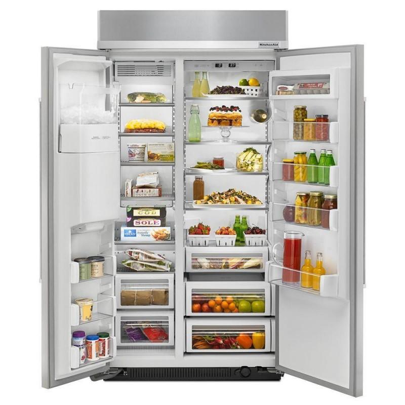 Kitchenaid Krff305ebs 25 2 Cu Ft French Door Refrigerator: KitchenAid KBSD612ESS 42 In. W 25.2 Cu. Ft. Built-in Side