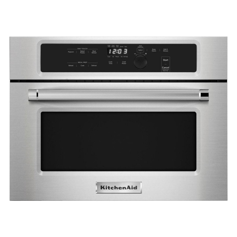 kitchenaid kmbs104ess 1.4 cu. ft. built-in microwave in