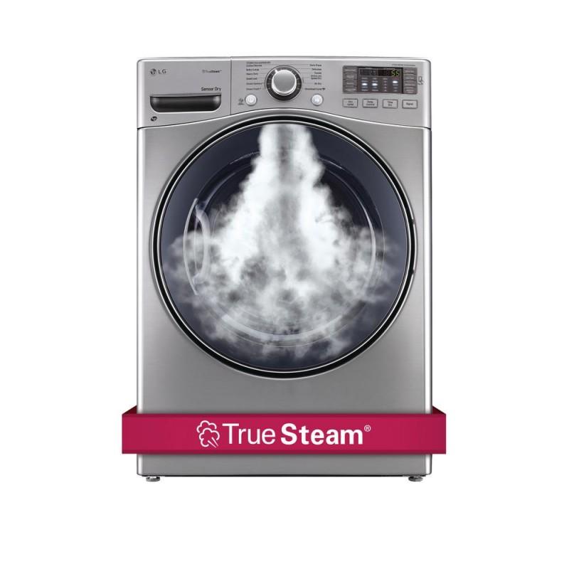 LG DLGX3571V 7.4 cu. ft. Gas Dryer with Steam in Graphite Steel