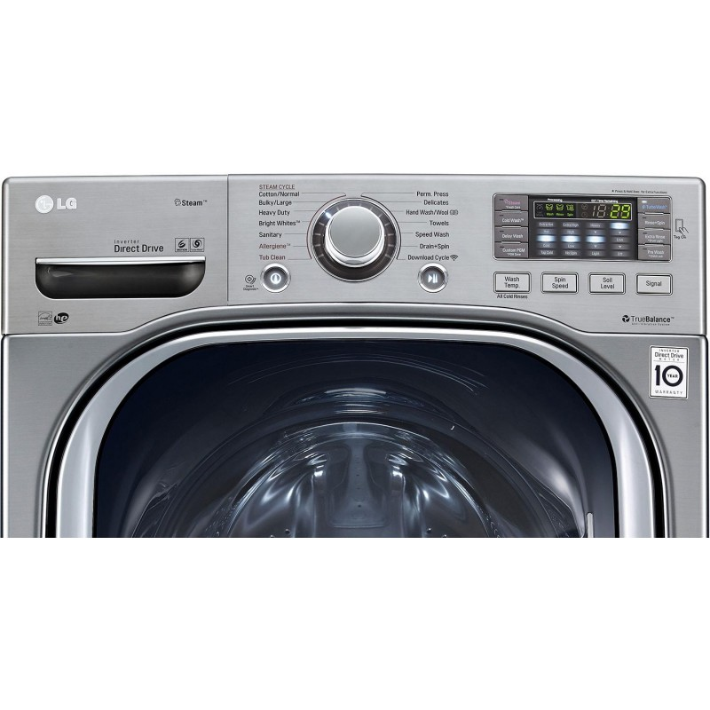 TurboWash Series 27 Inch Front Load Washer with 4 5 cu  ft  Capacity, 14  Wash Cycles, 1200 RPM, Steam Cycle, SpeedWash, 6Motion, ENERGY STAR,