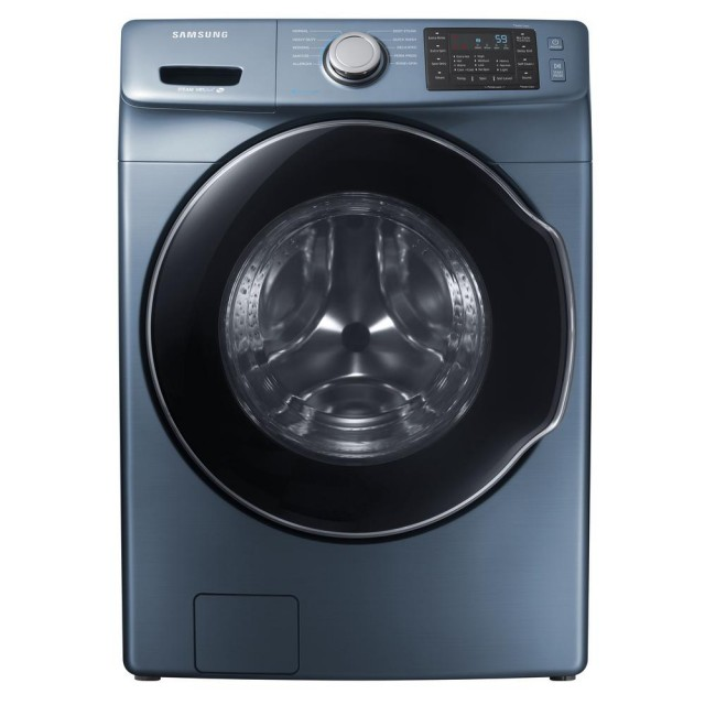 Samsung WF45M5500AZ 4.5 cu. ft. High-Efficiency Front Load Washer with Steam in Azure, ENERGY STAR