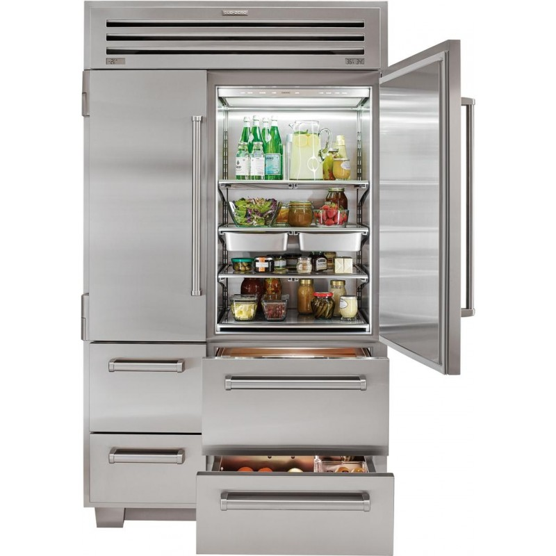 Sub Zero 648prog 48 In 30 2 Cu Ft Built Side By Refrigerator Stainless Steel