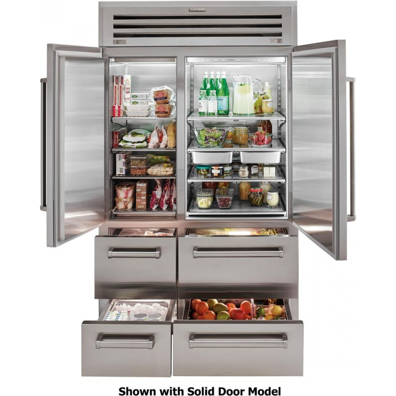 Sub Zero 648PROG 48 In. 30.2 Cu. Ft. Built In Side By Side Refrigerator In  Stainless Steel
