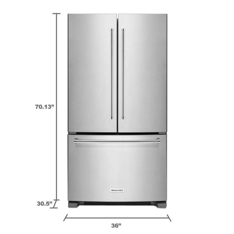 KitchenAid KRFC300ESS 20 Cu. Ft. French Door Refrigerator In Stainless  Steel, Counter Depth