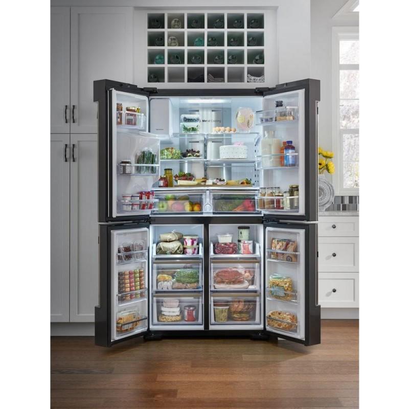 Samsung RF22M9581SG 22 Cu. Ft. Family Hub 4 Door Flex French Door  Refrigerator In Black Stainless Steel, Counter Depth