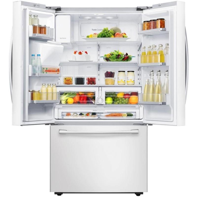 Samsung Rf23hcedbww 22 5 Cu Ft French Door Refrigerator