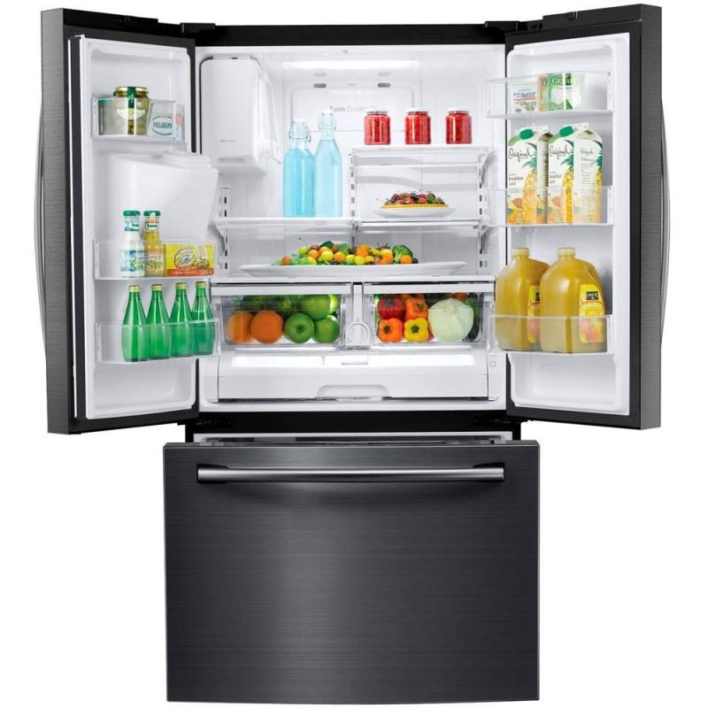 Samsung Rf263teaesg 24 6 Cu Ft French Door Refrigerator