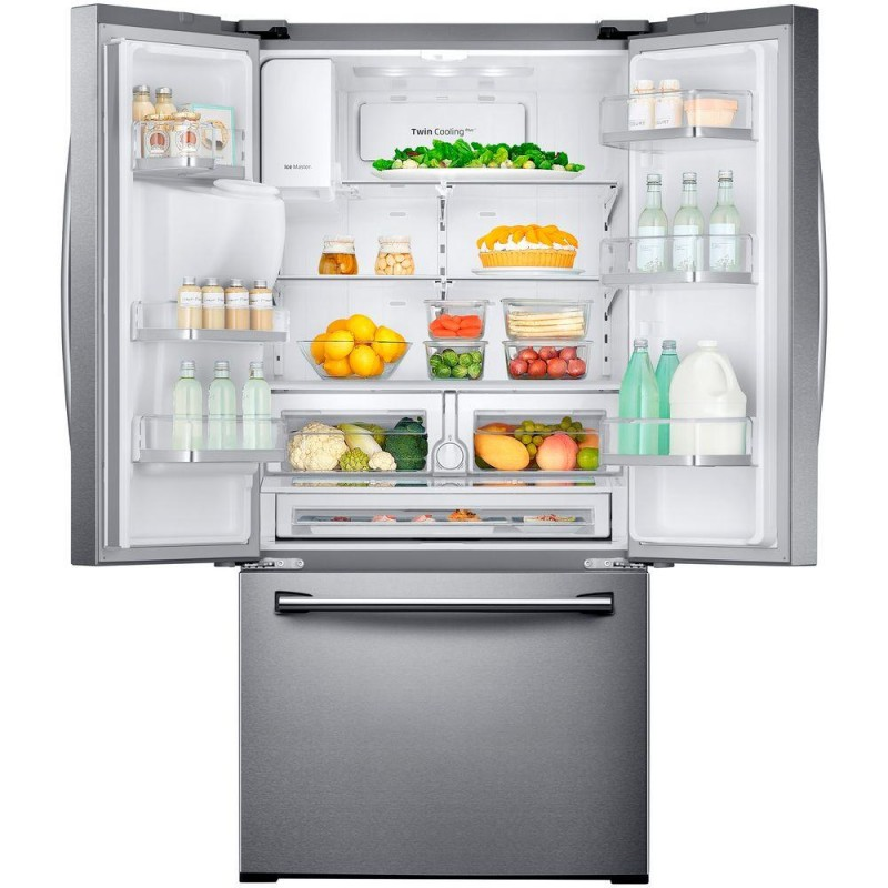 Samsung RF26J7500SR 33 In. W 25.5 Cu. Ft. French Door Refrigerator In  Stainless Steel