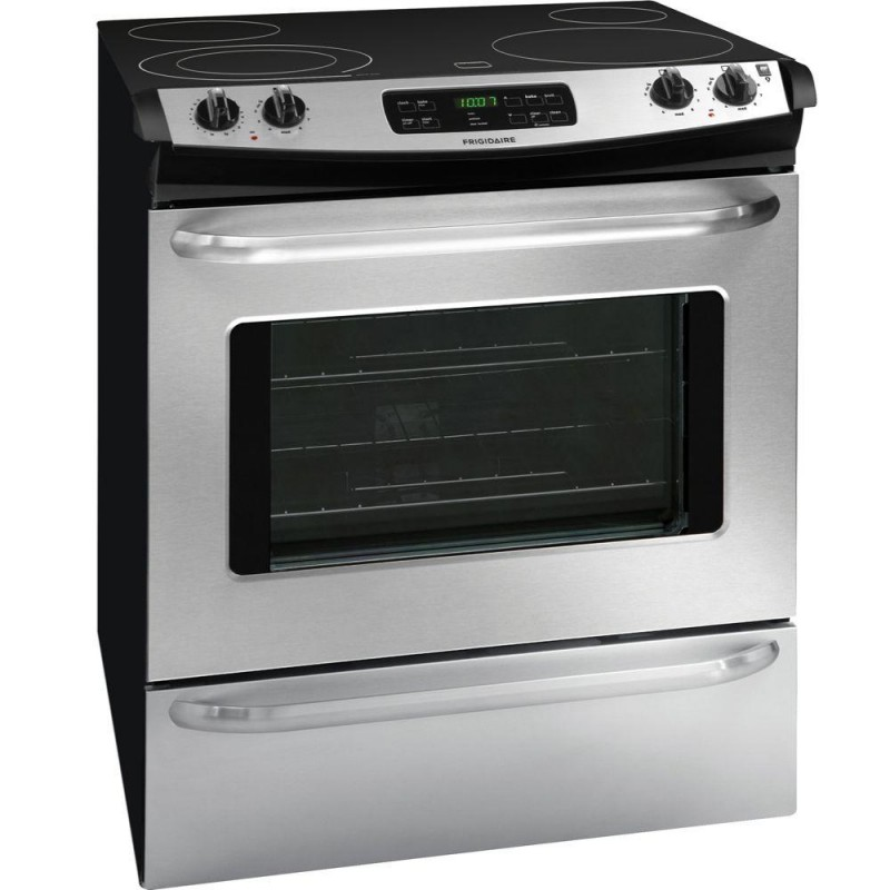 frigidaire lfes3025pf 30 in 4 6 cu ft slide in smoothtop electric range with self cleaning. Black Bedroom Furniture Sets. Home Design Ideas