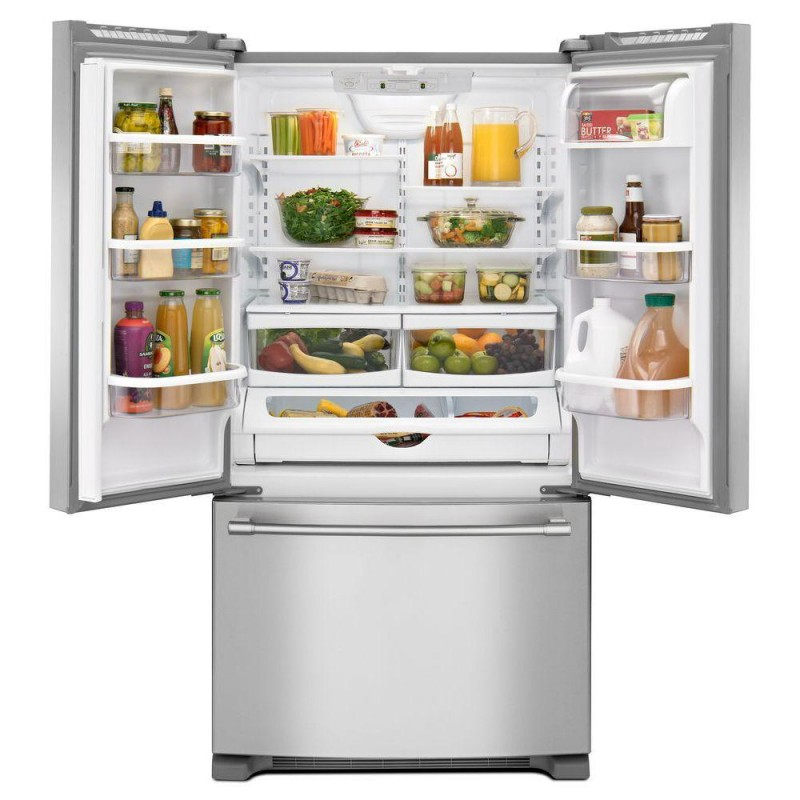 Maytag MFF2558FE 36 In. 25.2 Cu. Ft. French Door Refrigerator In  Fingerprint Resistant Stainless Steel