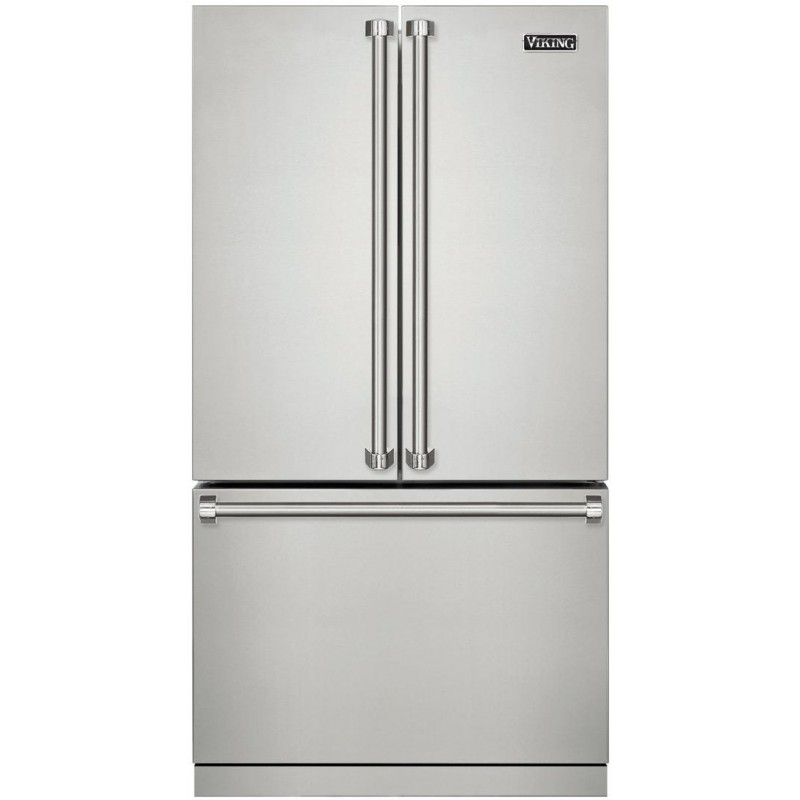 Great Viking 3 Series RVRF3361SS 36 In. 22.1 Cu. Ft. Counter Depth French Door  Refrigerator In Stainless Steel