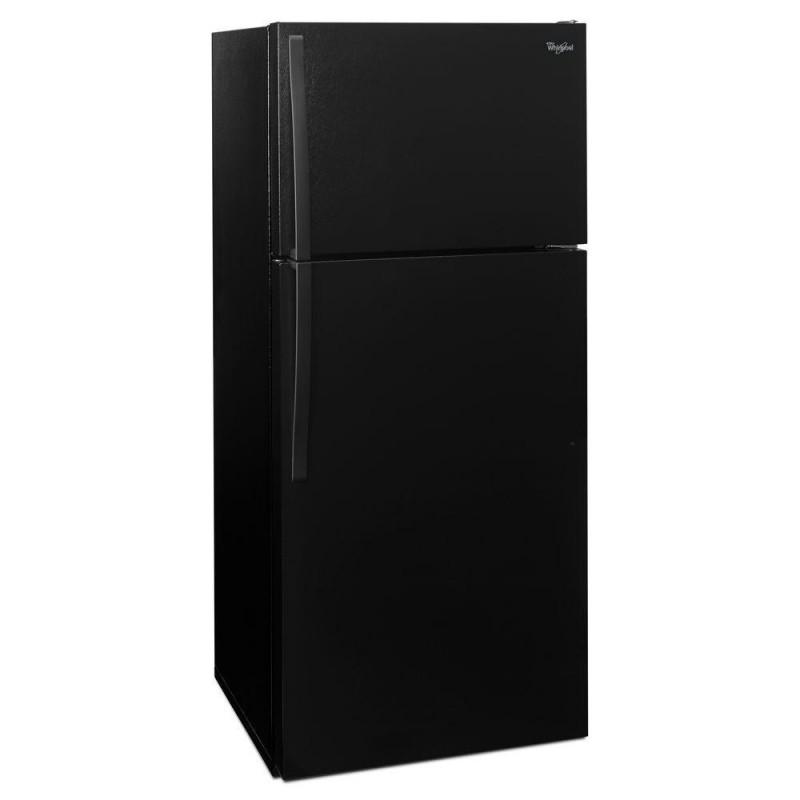whirlpool refrigerator top freezer. whirlpool wrt314tfdb 28 in. 14.3 cu. ft. top freezer refrigerator in black