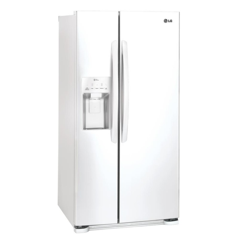 lg lsxs22423w 33 in w 22 cu ft side by side refrigerator in white. Black Bedroom Furniture Sets. Home Design Ideas