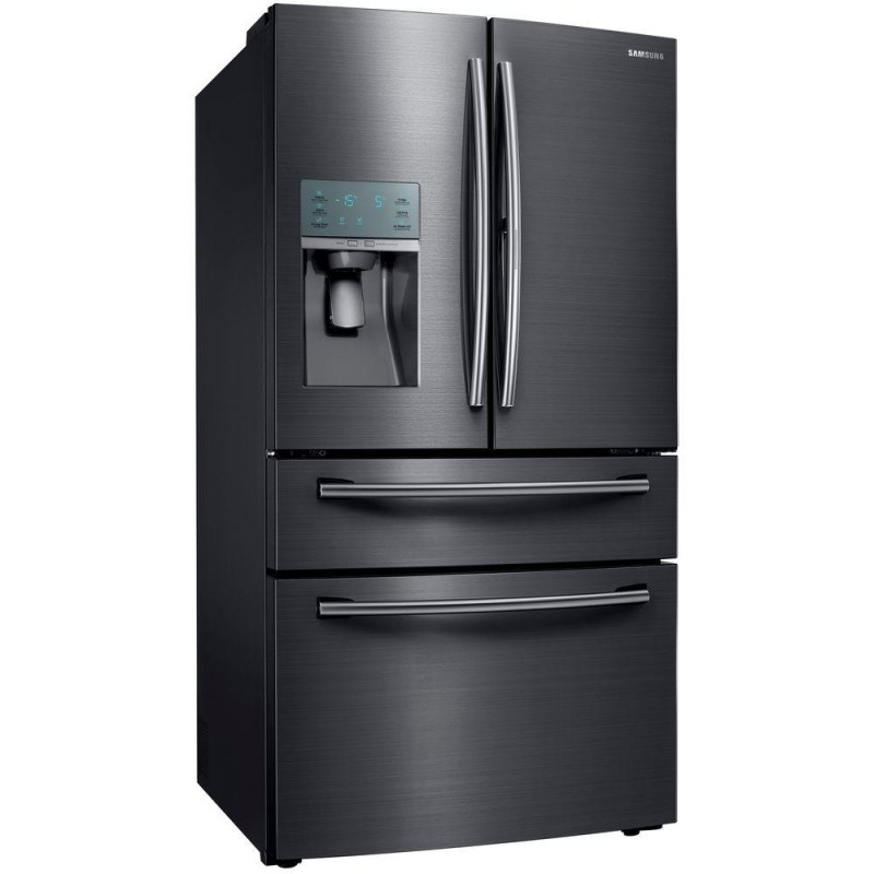 samsung rf22kredbsg 22 4 cu ft food showcase 4 door french door refrigerator in black. Black Bedroom Furniture Sets. Home Design Ideas
