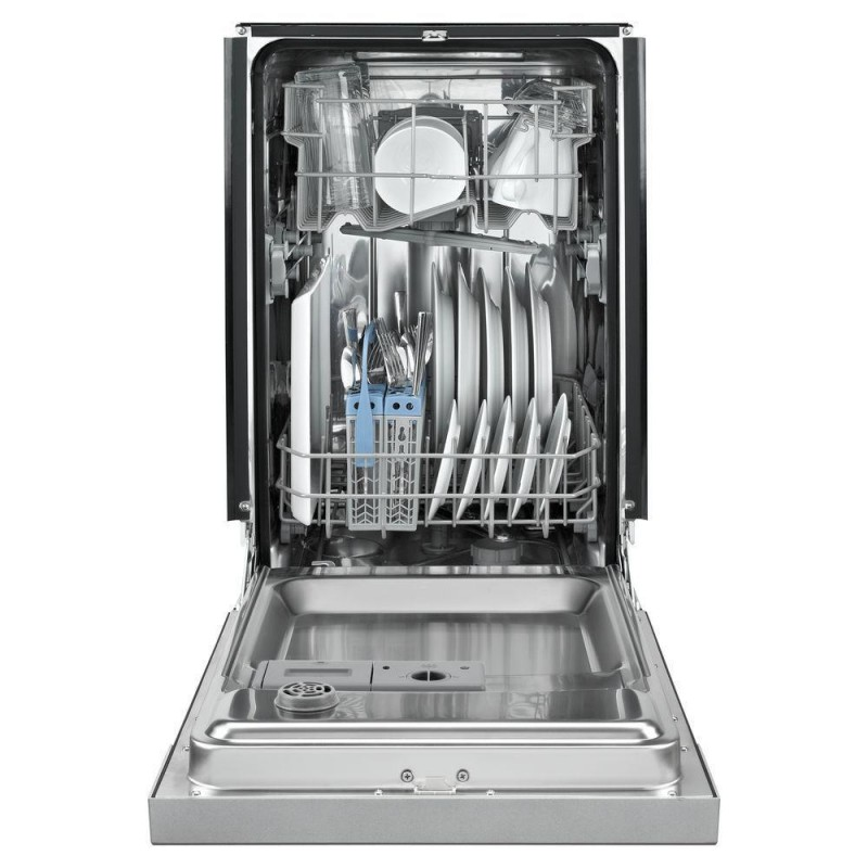 Whirlpool Wdf518safm 18 In Front Control Dishwasher In