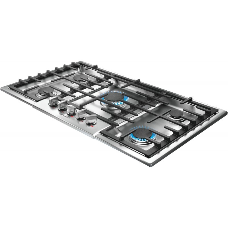 5 Burner Gas Cooktops: Bosch Benchmark Series NGMP655UC 36 In. Gas Cooktop With 5