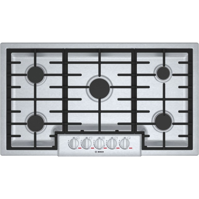 Bosch Benchmark Series NGMP655UC 36 in. Gas Cooktop with 5 Burners in Stainless Steel