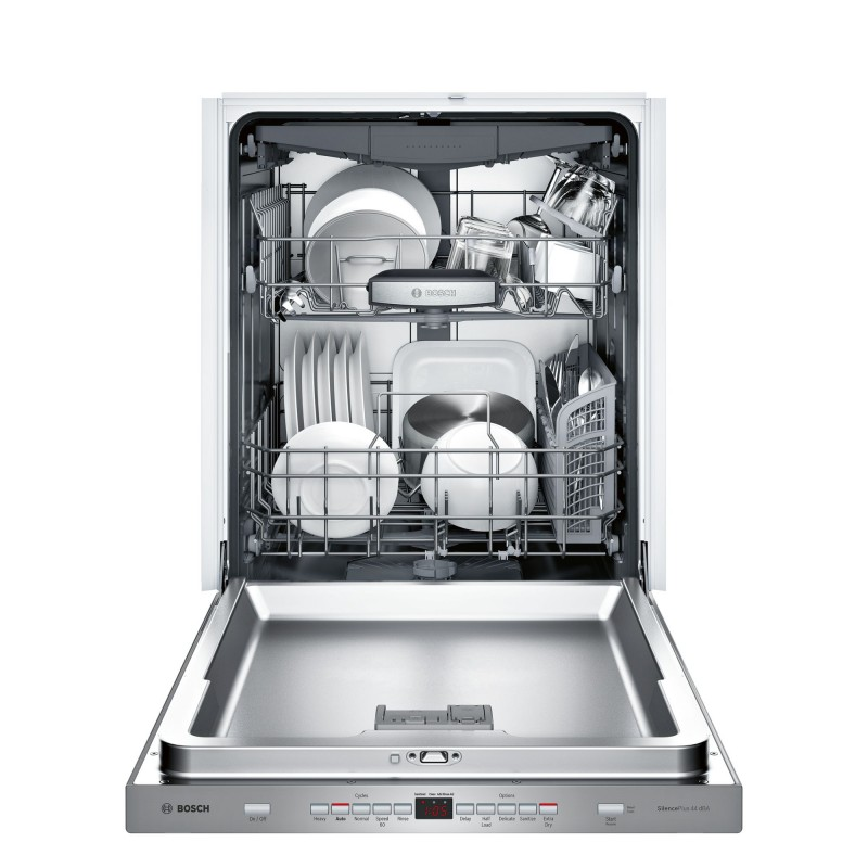 Bosch 500 Series Shpm65w55n 24 In Built Dishwasher With Pocket Handle Stainless Steel