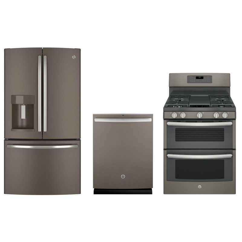 ge slate gas range. Double Oven Gas Range In Slate. -26% GE GDT580SMF5ES 24 In. Dishwasher, GFE28GMKES 27.8 Cu. Ft. French Door Refrigerator Ge Slate