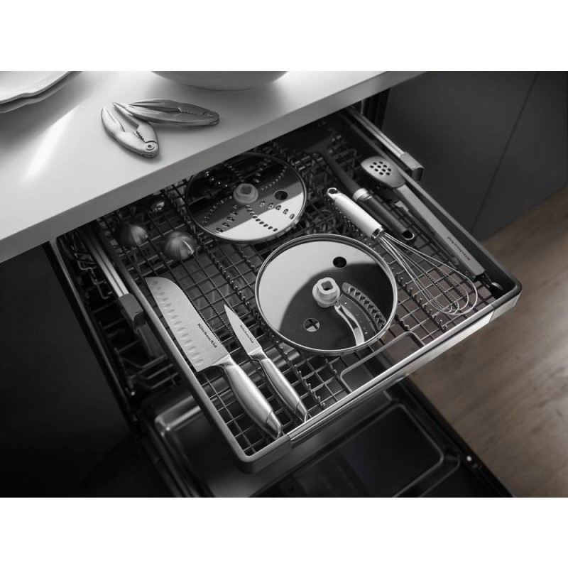 Kitchenaid S Black Stainless Steel Wowza: KitchenAid KDFE204EBL 24 In. Front Control Dishwasher In Black With Stainless Steel Tub
