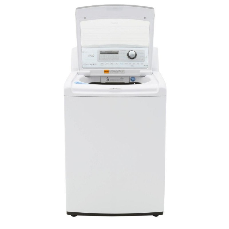 Lg Wt5270cw 4 9 Cu Ft High Efficiency Top Load Washer In