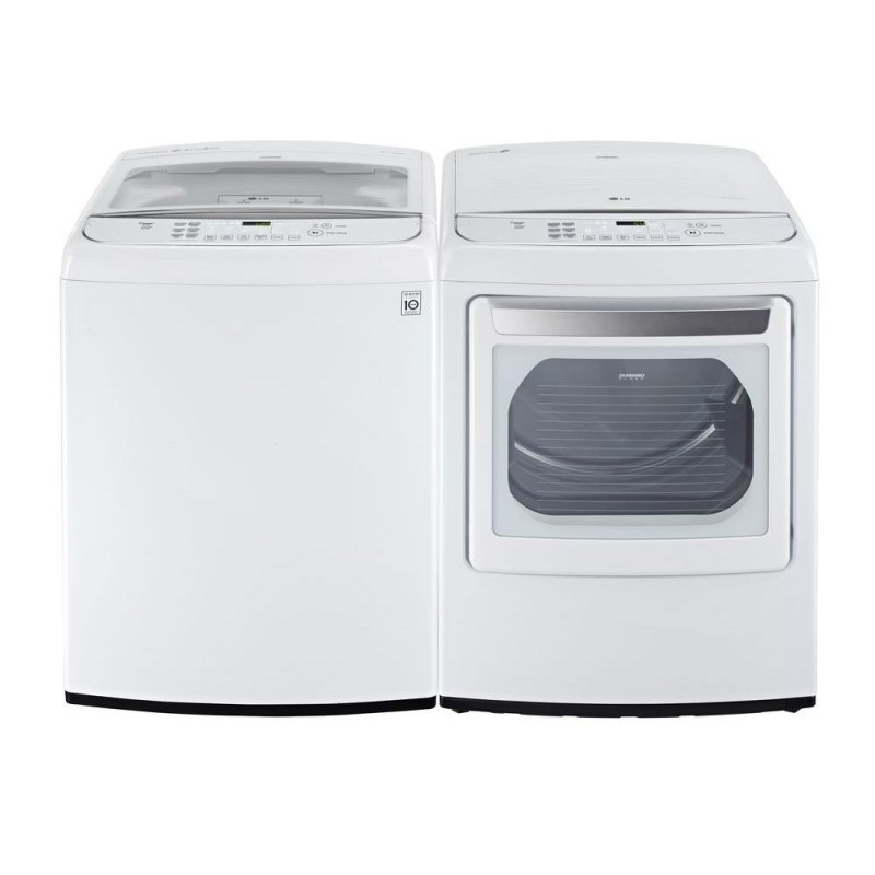 Lg Wt1801hwa 4 9 Cu Ft Top Load Washer And Dlgy1702we 7