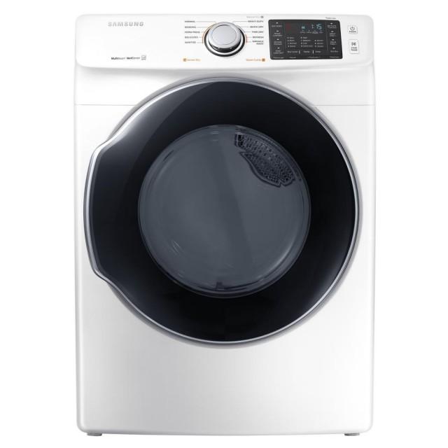 Samsung DVG45M5500W 7.5 cu. ft. Gas Dryer with Steam in White, ENERGY STAR