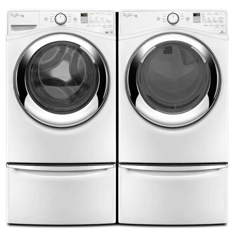 Whirlpool Duet WFW87HEDW 4.3 Cu. Ft. Front Load Washer And