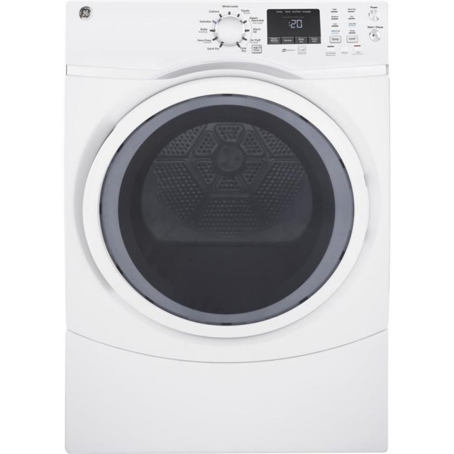 GE GFD45GSSMWW  7.5-cu ft Stackable Gas Dryer (White) ENERGY STAR
