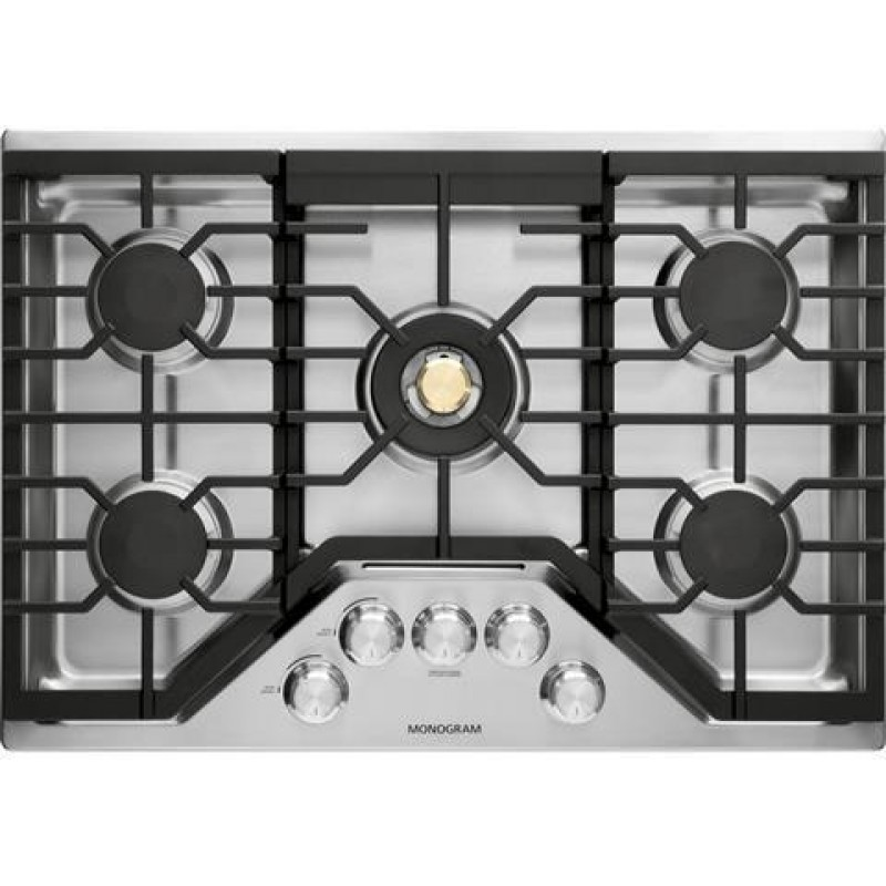 Ge Zgu30rslss Monogram 30 Inch Natural Gas Cooktop With 5