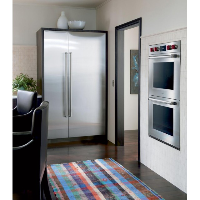 Sub-Zero IC36RRH 36 Inch All Refrigerator Column with 21.4 cu. ft. Capacity, Right Hinge and Sub-Zero IC18FILH 18 Inch  Freezer Column with 8.4 cu. ft. Capacity, Left Hinge, Built In, Counter Depth in Panel Ready