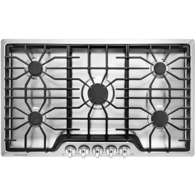 Frigidaire FFGC3626SS 36 in. Gas Cooktop in Stainless Steel with 5 Burners