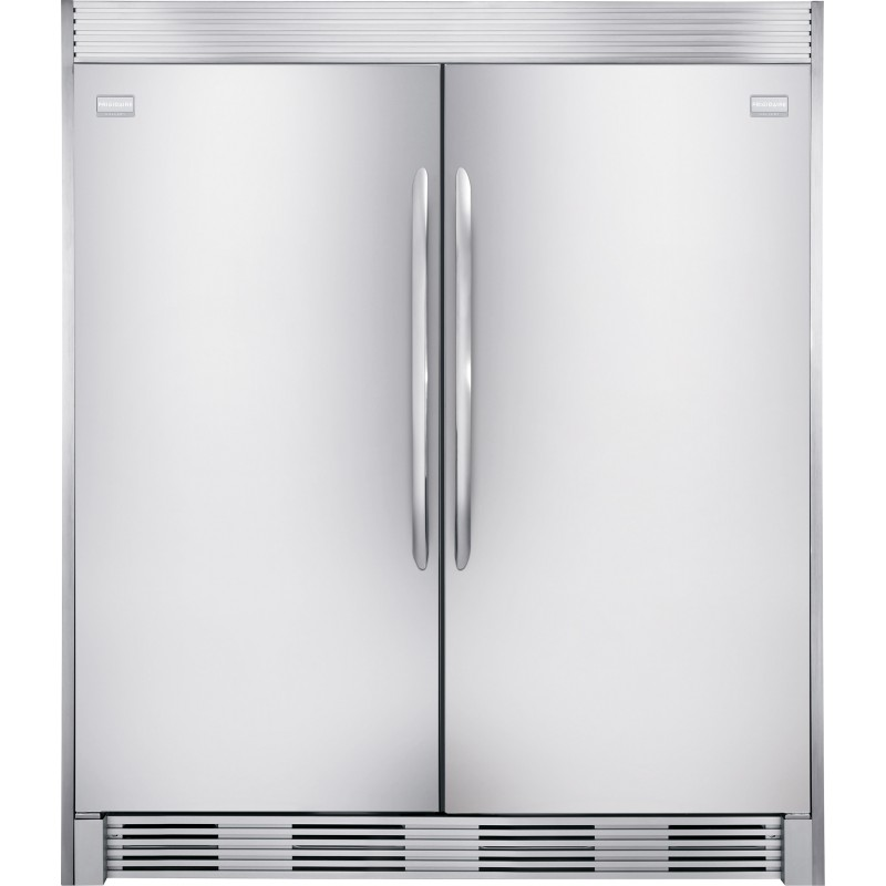 Frigidaire Gallery Fgfu19f6qf 18 6 Cu Ft Upright Freezer And All Refrigerator In Stainless Steel