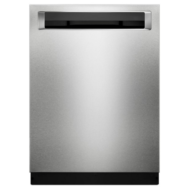 KitchenAid KDPE234GPS 24 in. 46 dBA Top Control Built-In Tall Tub Dishwasher in PrintShield Stainless with Third Level Rack