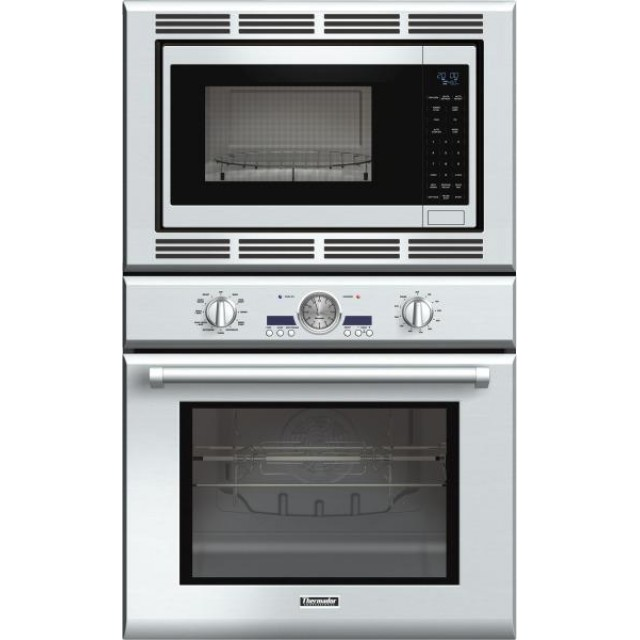 "Thermador PODM301J 30"" Star-K Certified Professional Series Built In Combination Wall Oven With 1.5 cu. ft. Microwave Capacity, 4.7 cu. ft. Oven Capacity, Fastest Self-Clean Oven Mode, Maxbroil, And SoftClose Door: Stainless Steel"