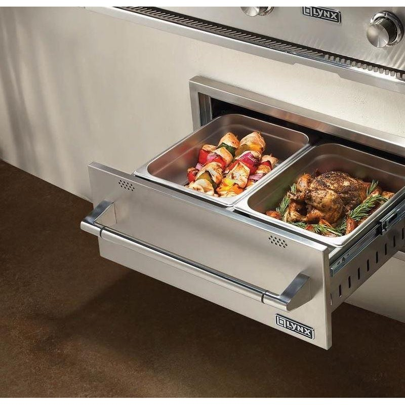 Lynx L30wd1 30 Outdoor Warming Drawer With On Indicator Light