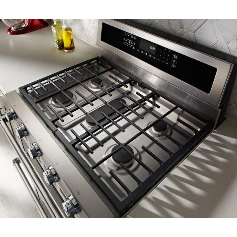 KitchenAid KFDD500ESS 30-in 5-Burner 4.2-cu ft / 2.5-cu ft ...