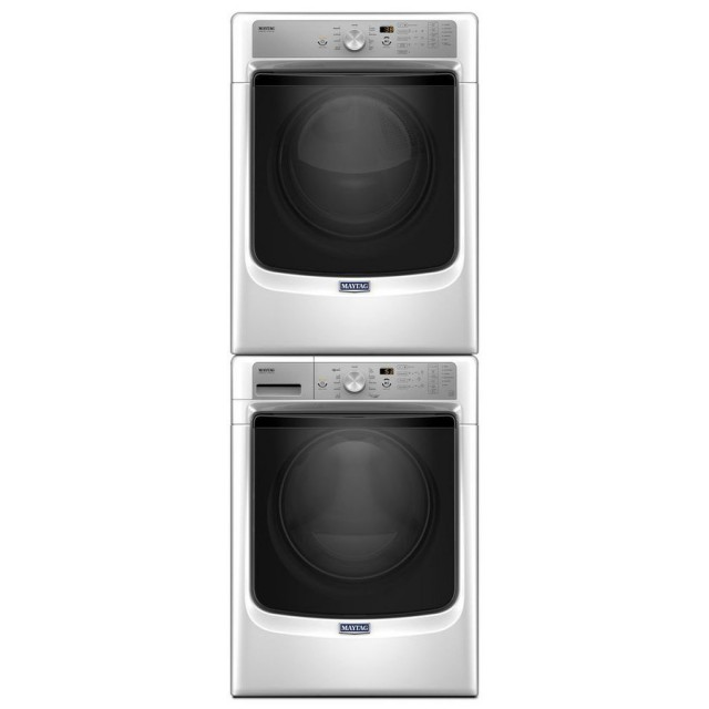 Maytag MHW5500FW 4.5 cu. ft. Front Load Washer and MGD5500FW 7.4-cu ft Stackable Gas Dryer